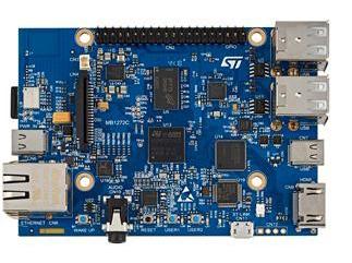 STM32MP157C-DK2 без подключенного LCD модуля