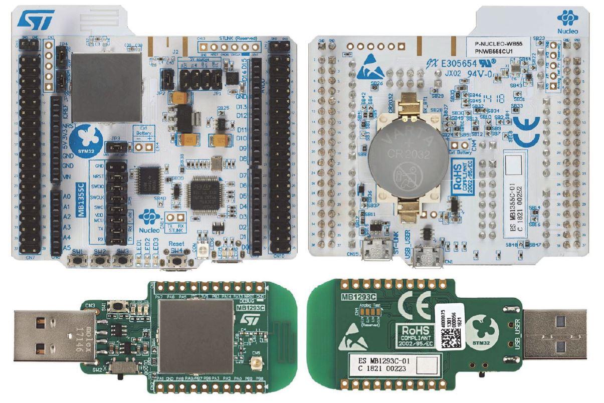 Внешний вид отладочных модулей MB1355C (вверху) и MB1293C (внизу)