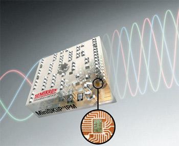 Рис. 7. Приводной интеллектуальный модуль MiniSKiiP IPM для приводов мощностью до 15 кВт - Направление развития модулей MiniSKiip от компании SEMIKRON
