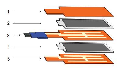 Внутреннее устройство пьезоэлектрического преобразователя V25W