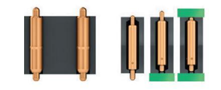 Варианты установки контактов в корпусе